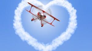 טיסה רומנטית בשמי הארץ - לב