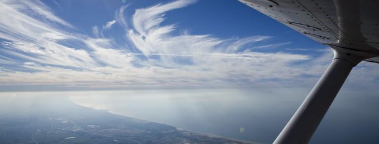 טיסה מעל הים ומרכז הארץ
